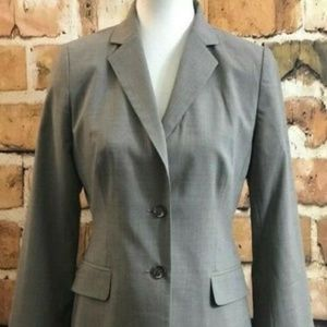 Banana Republic Gray Two Button Wool Blazer Size 6